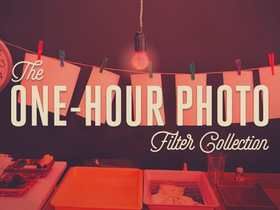 The One-Hour Photo Filter Collection grain film light leaks filters cameras analog photoshop