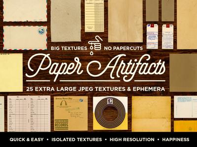 Paper Artifacts | Ephemera Bundle ephemera high-resolution textures paper