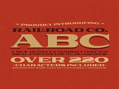 Railroad Co. Typeface railroad vintage typeface