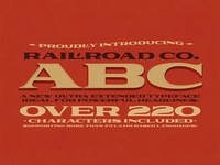 Railroad Co. Typeface