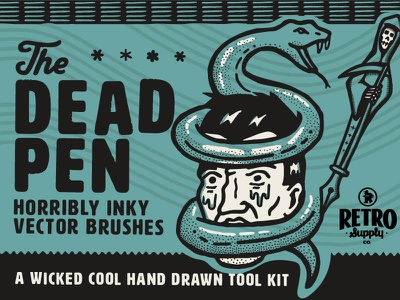 The Dead Pen | Hand Drawn Vector Brush Pack hand drawn stippling adobe illustrator brushes