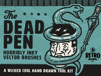 The Dead Pen | Hand Drawn Vector Brush Pack