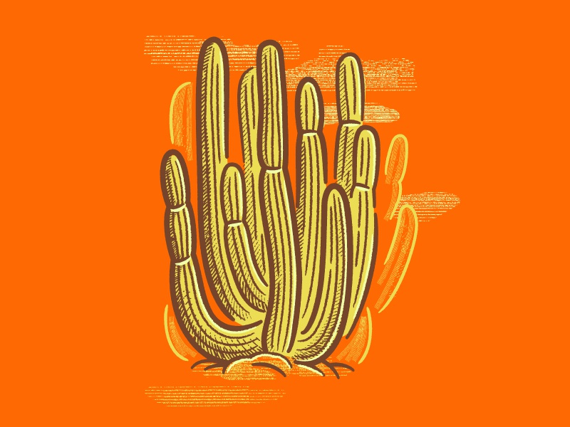 [MINI-TUTORIAL] How to Make a Hand Drawn Cactus in Illustrator retrosupply co. tutorial swatches brushes adobe illustrator cactus