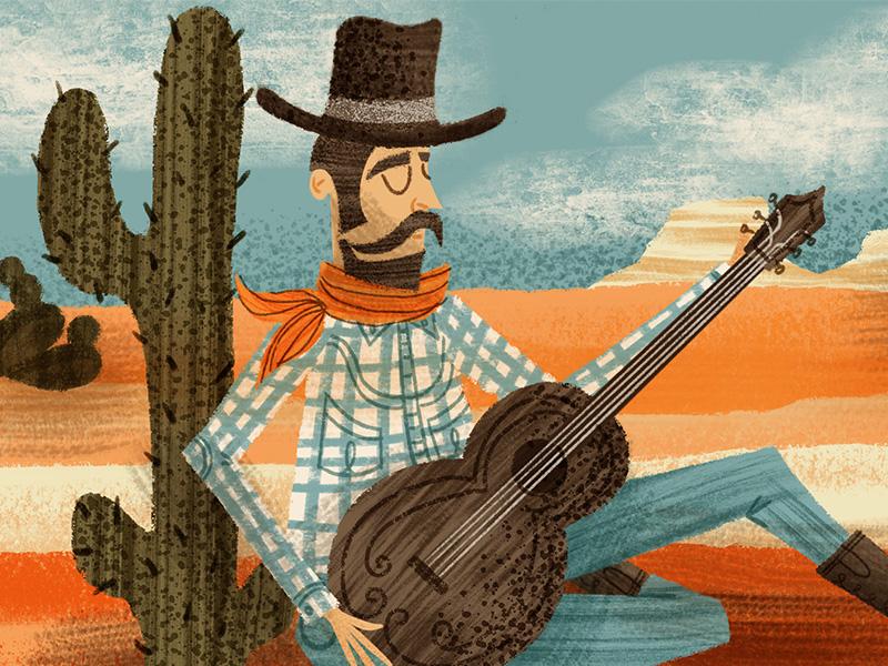 Hey Partner, New Dry Brushes for Procreate children book vintage retro western cowboy dry brush retrosupply illustration brushes procreate