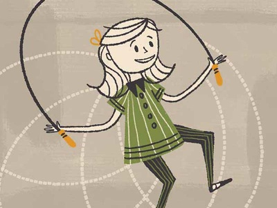 The Liner Brush Pack For Procreate (Girl Jumping Rope) childrens book jumping rope pens ink retrosupply mid-century vintage retro procreate art procreate app brushes procreate