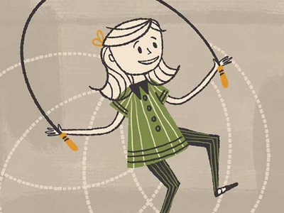 The Liner Brush Pack For Procreate (Girl Jumping Rope)