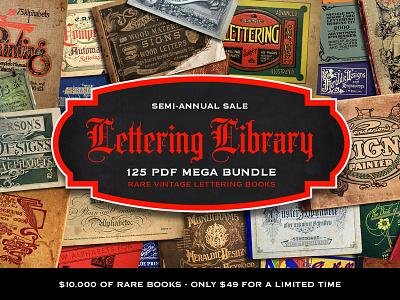 [SALE] Lettering Library Mega Bundle jason carne lettering library pdfs books vintage lettering