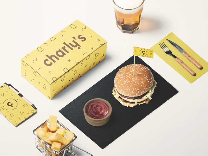 CHARLY'S Pop Culture Bar Branding