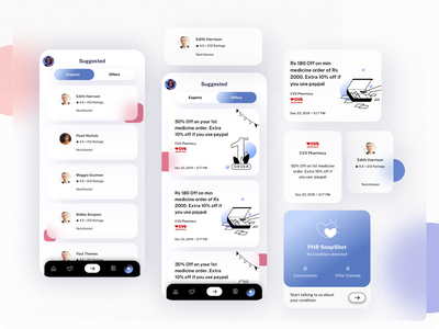 Health Care App app design app glassmorphism illustration minimalist concept design ux design ui design