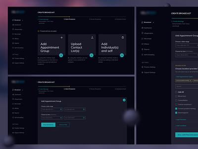 Broadcast Messaging challenge minimalist desktop messaging webapp concept design ux design ui design