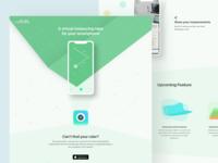 AR Measurement App Landing page