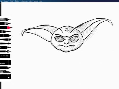 baby Yoda sketchbook baby yoda yoda nft sketchbook illustration