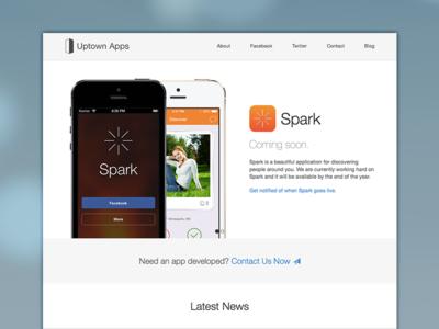 Uptown Apps Site website web design responsive apps company