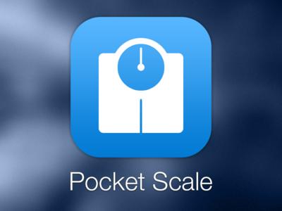 Pocket Scale App Icon iphone ios ios7 app icon blue