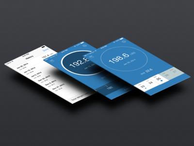 Pocket Scale App ios ios7 app blue ui ux iphone