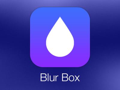 Blur Box App Icon ios ios7 app icon purple blue