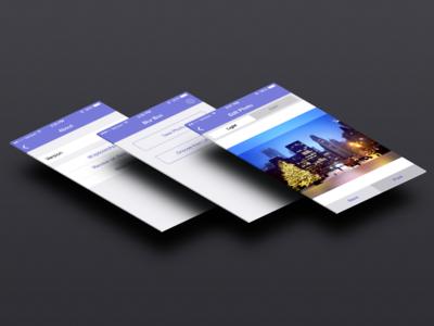 Blur Box App ios ios7 app blue purple ui ux iphone