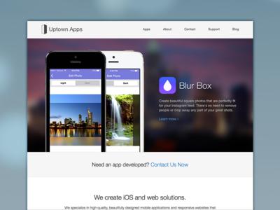 Uptown Apps Homepage Update web site website ios ios7 apps css blur responsive