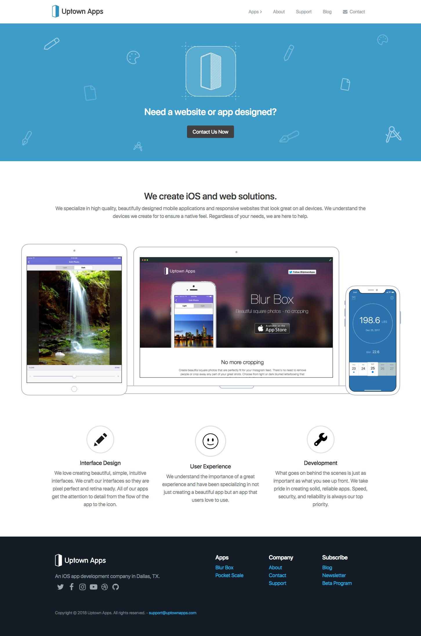 Uptownapps homepage