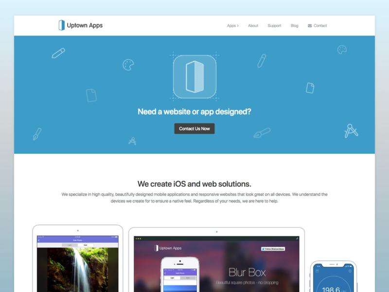 Updated Uptown Apps Website business company web responsive blue web desgin website