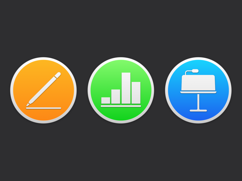 iWork macOS Mojave Icons mac icons icon replacement icon macos mojave iwork apple design ui