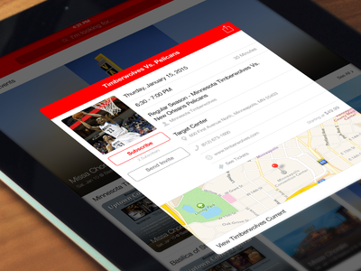 Event View ipad red event mobile ios app design app design app ios app ui ios