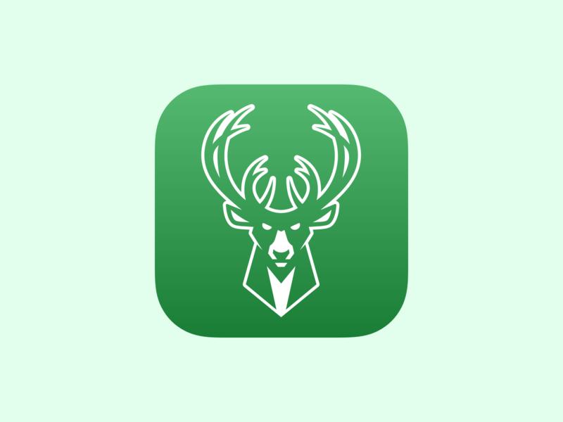 Milwaukee Bucks iOS App Icon Redesign Update nba green app icon ui branding logo ios app design ios design ios app mobile icon iphone app ios