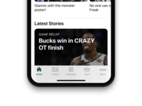 Milwaukee Bucks iOS App Redesign