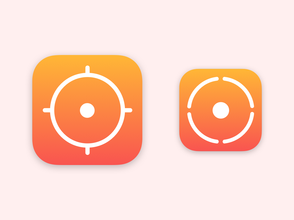 Reticle iOS App Icons by Devon DeNure on Dribbble