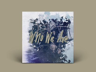 Gungor: Who We Are person people water boat ocean refugee gold lettering cover album music single
