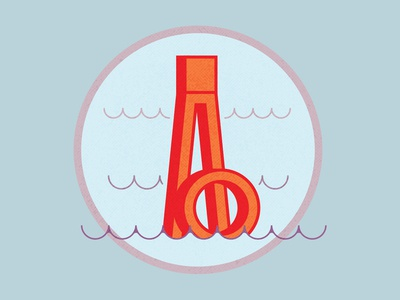 36 Days of Type: Days 1 & 2 float water ocean buoy b a typography type 36daysoftype