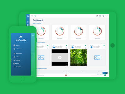 TheAmplify Reach Web App component designsystem ux ui dashboard admin webapp app