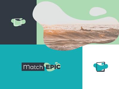 MatchEpic Brand community social ocean epic match logo icon brand
