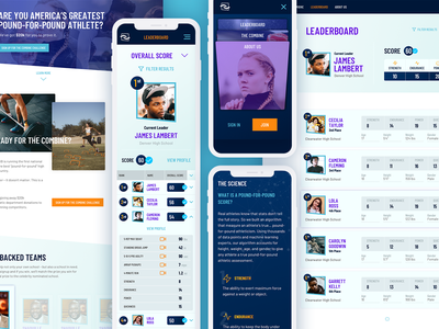 Athlete Training Club designsystem web ux app typography ui design blue fitness exercise club training athlete