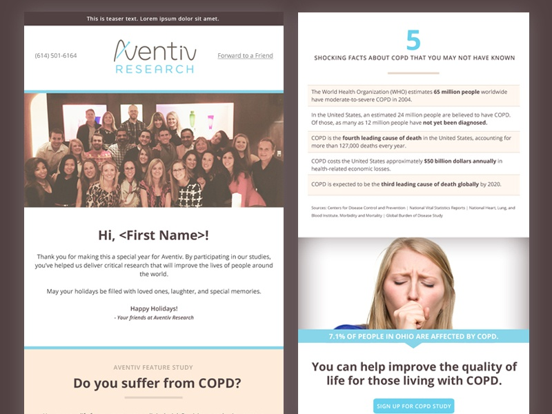 Aventiv Research Newsletter Template Columbus Healthcare Email
