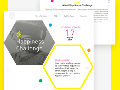 Axed Happiness Challenge Hero Section