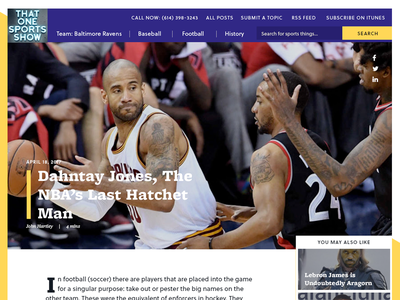 That One Sports Show Article basketball ux ui sports story article editorial baseball