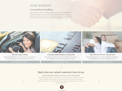 Secondary Banking Website Concept