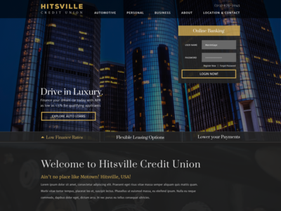 Credit Union Homepage Concept