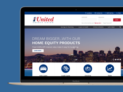 Credit Union Homepage Design