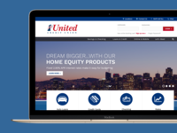 Credit Union Homepage Design
