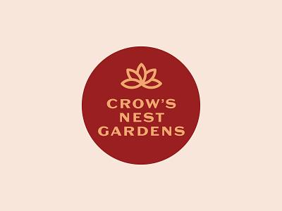 Crow's Nest Gardens logo design logotype logos logo