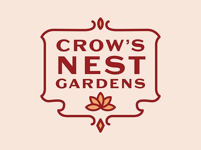 Crow's Nest Gardens logodesign logotype logo design branding logo