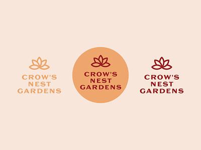 Crow's Nest Gardens logodesign branding logotype logo design logo
