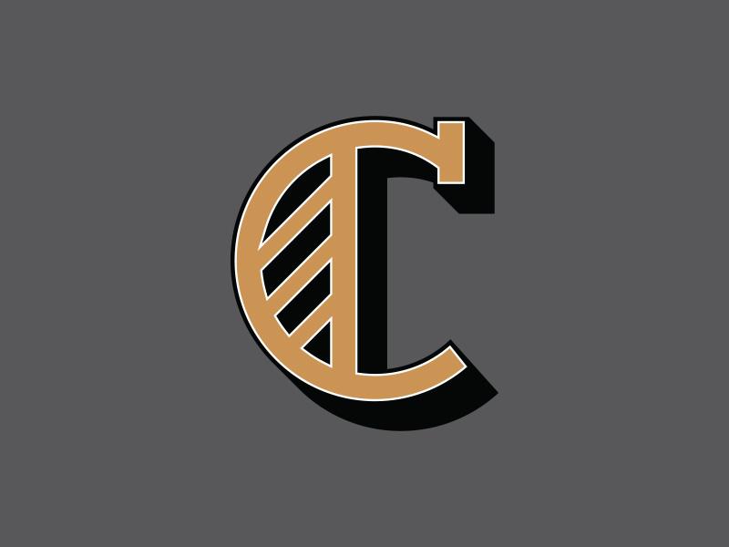 Initial initial drop cap c logo