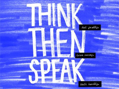 Think Then Speak