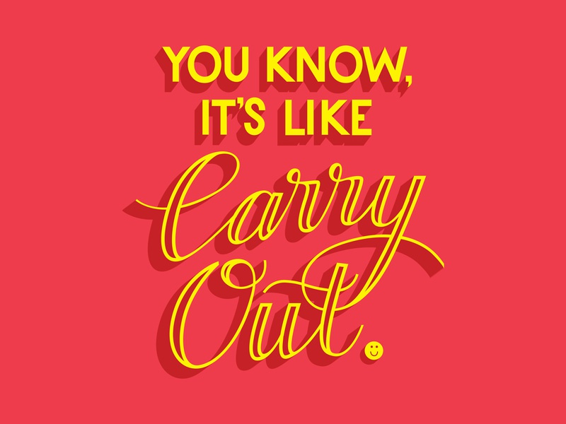 Carry Out script illustration vector custom type type