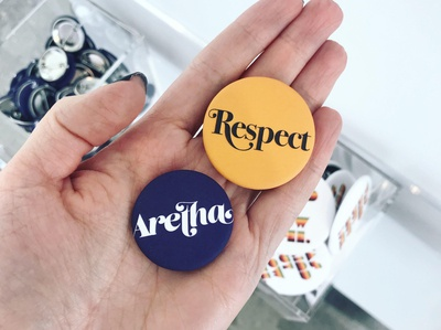 Aretha Franklin Buttons