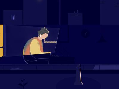 All Night ✨ procreate app procreate art procreateapp procreate illustration design