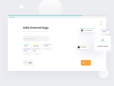 Create Channel Wizard 🌍 clean design ux ui user interface design user interface ui ui design minimal